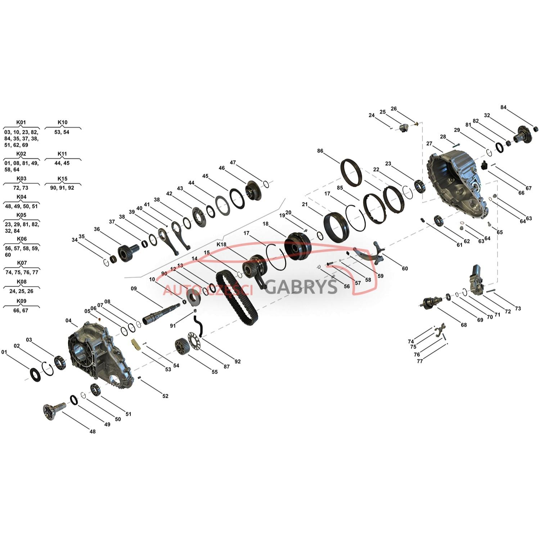 belaglamellensatz lamellensatz verteilergetriebe  itc pla   land rover   discovery   range rover